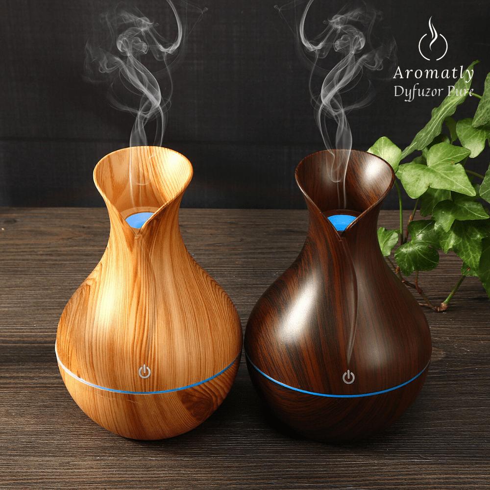 drewniany dyfuzor do aromaterapii, nawilżacz powietrza aromatly