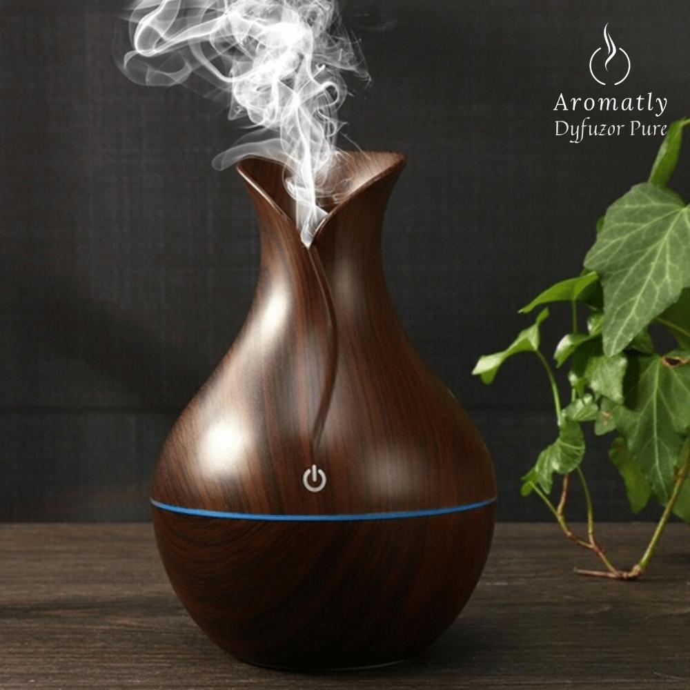 świecący dyfuzor do aromaterapii, nawilżacz powietrza aromatly