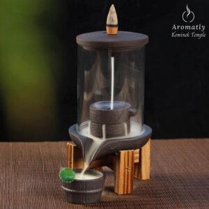 Kominek Aromatly Temple kadzidło płynące incense burner
