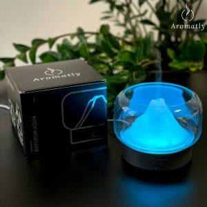 dyfuzor do aromaterapii świecący aqua